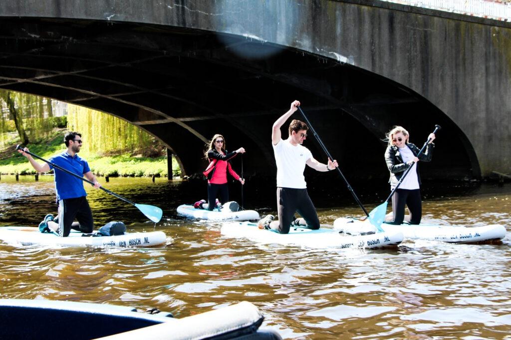 Vriendengroep op supboard bij Supper Den Bosch